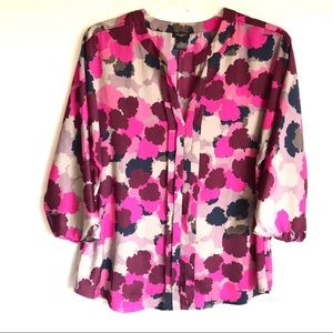 Ann Taylor Watercolor Blouse